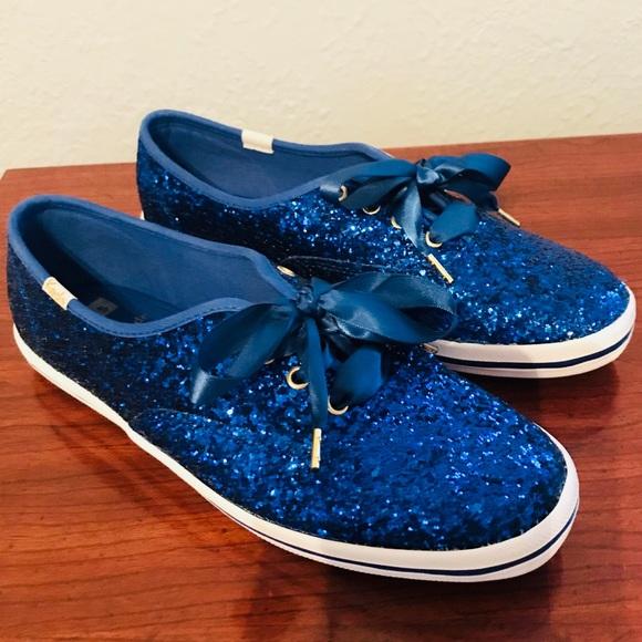 blue sparkly keds